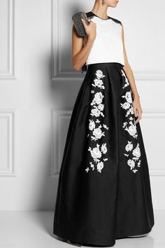 Not a huge fan of stiff fabrics, but Erdem is as good of hands as any to make it work.