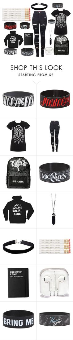 """""""Untitled #17"""" by martineznaidira ❤ liked on Polyvore featuring Hot Topic, 2LUV, Anti Social Social Club, Miss Selfridge and Killstar"""
