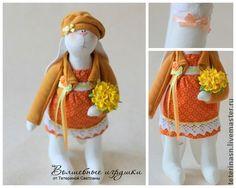 Зайка с букетом (28 см) - заяц,зайка,тильда заяц,игрушка заяц,текстильный заяц