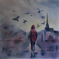You´ll Never Walk Alone. Oil on canvas, 60x60 cm, 2016. By Peter Valve