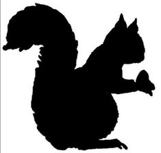 Squirrel Silhouette | Squirrels In Black