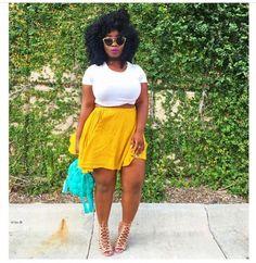 Fashion Fashion outfits Curvy fashion Curvy girl fashion Big girl fashion B Curvy Girl Fashion, Black Women Fashion, Look Fashion, Plus Size Fashion, Womens Fashion, Fashion Spring, Curvy Fashion Summer, Fashion Edgy, Fashion Trends