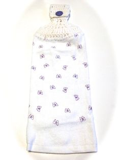 Purple Butterfly Hand Towel With White by MeAndMomsCrafts on Etsy