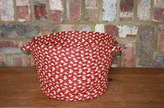 Medium Red/White Utility Basket