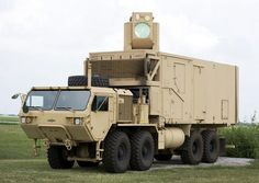 Boeing has designed a mobile laser weapon system from a truck. This eight-wheel, 500-horsepower Oshkosh Heavy Expanded Mobility Tactical Truck (HEMTT) has already been altereded by Boeing with a beam control system along with tracking and targeting hardware and software.