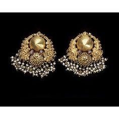 antique gold earrings gili ole-Karnataka
