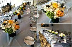Floral arrangements in the Solarium at the 3 West Club