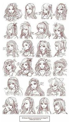 Sai資源庫:分享一組150款動漫人物頭像及髮型手繪參... - 微博精選 - 微博台灣站