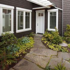 landscaping to mudroom door