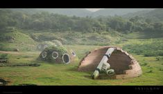 """Robinson the journey"" - Robots concept design/art, Ivan Tantsiura on ArtStation at https://www.artstation.com/artwork/LO9AP"