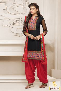 Spectacular black red party wear patiala salwar suit will make yourself look impelling with nice embroidered patch work, beautiful lace and nice patiala salwar. #pavitraa, #salwarsuit, #salwarkameez, #patialasalwarsuit, #punjabisalwarsuit, #partywearsalwarsuit, #printedsalwarsuit, #embroiderysalwarsuit, #designersalwarsuit, #newfashion, #pajamasuit http://www.pavitraa.in/store/patiala-salwar-suit/ Contact Us : 917698234040