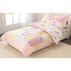 KidKraft 4 Piece Dollhouse Cottage Toddler Bedding Set (61 AUD) ❤ liked on Polyvore featuring home, children's room and children's bedding