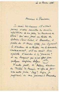 Lettre manuscrite de Marcel Pagnol 1 - Archives Nationales - AJ-16-6106 - Marcel Pagnol — Wikipédia