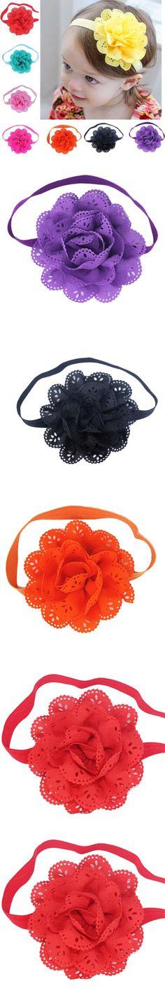 8PCS Kids Flower Headband Children Accessories Baby Widen Headwear Hair band Photography Props Girls Headband Free Shipping $2.71