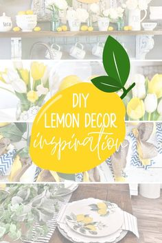 Small House Decorating, Decorating On A Budget, Porch Decorating, Summer Decorating, Lemon Pictures, Simple Centerpieces, Modern Farmhouse Decor, Affordable Home Decor