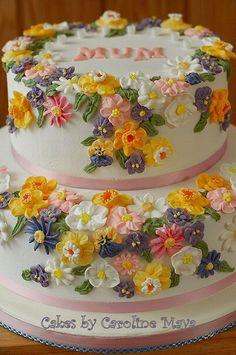 Flower Garden Birthday Cake 2   Flickr - Photo Sharing!