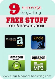 Getting FREE Stuff on Amazon is easier than you think!  Here are 9 simple tips for scoring FREE MP3's, Kindle books, gift cards and more EVERY day on Amazon!