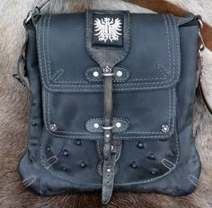 Vintage Austrian leather made into a stunning bag