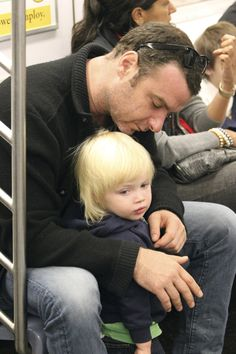 Liev Schreiber  Actor Liev Schreiber casts an adoring look at his (and wife Naomi Watt's) son Samuel Kai in this photo from Oct. 2010.