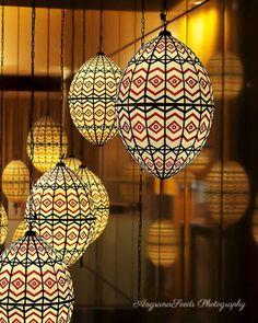 Moroccan Lanterns Photo Mediterranean home decor Chevron