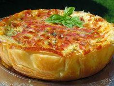 Quiche croque-pizza,Cocina tradicional.
