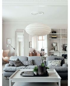 Living Room with Calm Colors - Home and Garden Design Idea's