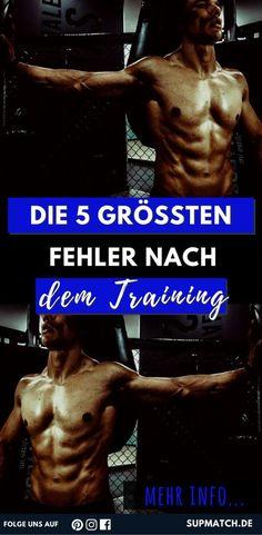 Die 5 größten Fehler nach dem Training - für Fitness Anfänger