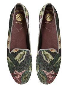 Image 3 - H By Hudson - Bolero - Chaussures plates à motif en tissu