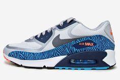 Nike Air Max 90 PRM CMFT Tape: Grey/Gamma Blue