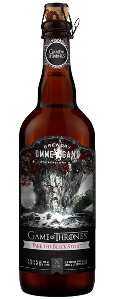 'Game of Thrones' #beer Take the Black Stout from Brewery Ommegang #GoT
