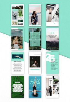 Mint Instagram Stories Template Pack ♥ Download it now!