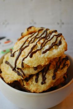 Cake Mix Macaroons, probably shouldn't pass this decadent dessert recipe on, but I will :) @Laurie Fisher