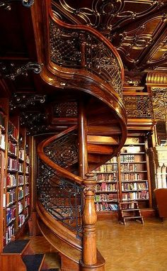 Szabo Ervin Library in Budapest. A 19th century aristocrat's mansion turned into a library, hidden in a modern library.