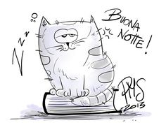 Good night!Sketch a cat! by Propriomestessa