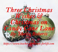 Three Christmas Wishes (5 stars- funny & Sweet) & Christmas on Candy Cane Lane (3 & 1/2 stars) By: Sheila Roberts Three Christmas Wishes By: Shelia Roberts Publisher/Year: Mira, 2016 Fiction, Novel, Romance, Holidays, Christmas Some Adult Language Plus(es): Relatable characters, Humor sprinkled throughout the story, Feel good read This has become one of my new holiday favorites. It follows three main protagonists. Riley...
