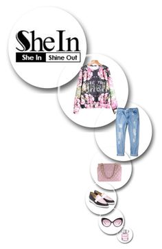 """she in"" by meylimayli ❤ liked on Polyvore featuring Chanel, MANGO and Moschino"