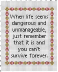 Want to motivate someone but dont like them too much? Have a friend with a dark sense of humour? This is perfect. Modern cross stitch pattern is designed on 14 count Aida. It is 120 x 110 stitches will run about 8x10 finished and would look great in an 8x10 frame, or larger with a matte. This pattern will come with 2 different sized full colour patterns, for printing or viewing convenience, and a handy little tips and tricks printout to help you in your quest for cross stitching awesomeness…