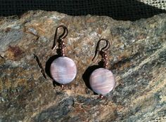Handmade Brown Mother of Pearl Round Copper by MetalsByMelissa, $20.00  https://www.etsy.com/listing/116057085/handmade-brown-mother-of-pearl-round #MotherofPearl #Earrings