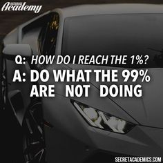 """Reaching the 1% is not impossible and the main element that separates the successful and the unsuccessful is work. I don't mean """"hard"""" work I mean the """"right"""" work. That's what we teach in the #SecretAcademy. We're having our biggest sale of the year right now at the link in our bio for $145 you can have lifetime access to all 5 of our educational platforms. This offer ends at midnight EST so get in while you can! #motivation #entrepreneur #smallbusiness #secretentourage #teamentourage #succ"""