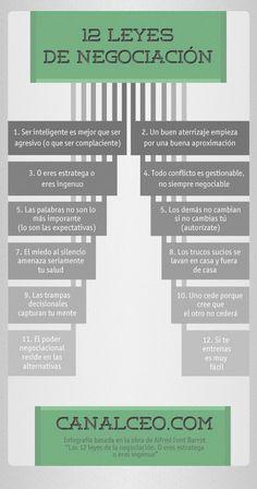 Las 12 leyes de la negociación #infografia #infographic