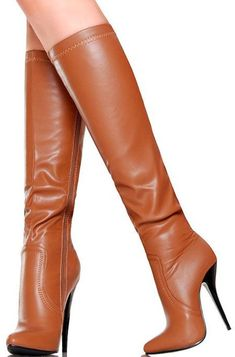 Ideas boots leather brown high heels for 2019 Brown High Heel Boots, Leather High Heel Boots, Brown Boots, Heeled Boots, Heel Boots For Women, Chanel Boots, Stiletto Boots, Sexy Boots, Fashion Boots