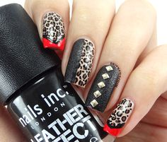 Brit Nails: Leather N' Leopard