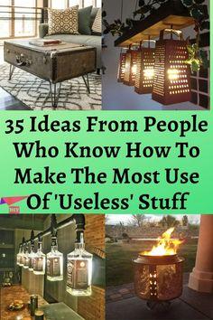 Life Hacks Home, Simple Life Hacks, Useful Life Hacks, Upcycle Home, Recycled Jars, Old Bottles, Repurposed Items, Hacks Diy, Wonderful Things