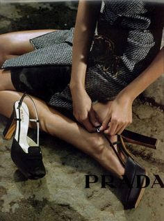Daria Werbowy. Part of the Prada F/W 2003/04 advertising campaign, photographed…