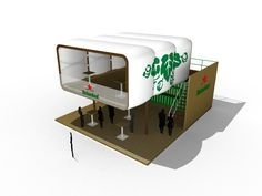 Double storey custom design for Heineken with lower bar and half open / half covered roof top terrace.