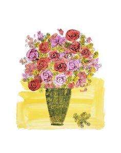 Basket of Flowers, c.1958 Andy Warhol