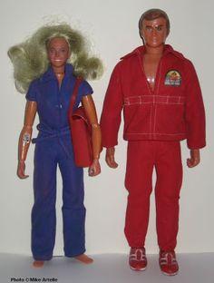 Six Million Dollar Man, 12 inch dolls by Kenner, 1975 - 1977 The Bionic Woman, 12 inch doll by Kenner, 1976 - 1977