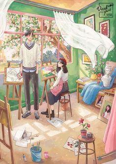 Love Cartoon Couple, Cute Couple Art, Anime Love Couple, Cute Couples, Anime Couples Drawings, Couple Drawings, Cartoon Drawings, Couple Illustration, Illustration Art