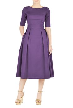 You can get this one in navy and black as well, and it can be long! It may be matronly then though.