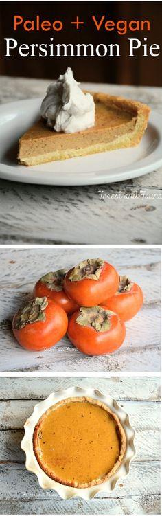 Persimmon Pie - Vegan + Paleo